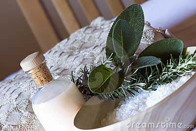 Sage and rosemary Spa set - aromatherapy