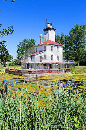 Free Saginaw River Rear Range Light Station - Michigan Stock Photos - 39404373