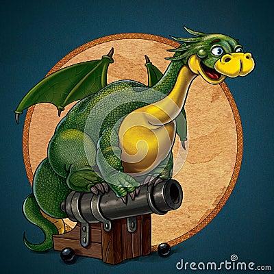 Sagittarius green dragon
