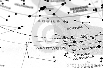 Sagittarius on star map