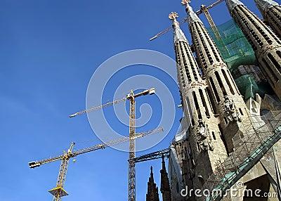 Sagrada Familia by Antoni Gaudi in Barcelona