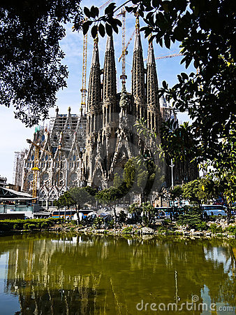 Sagrada Familia (Barcelona) in Spain