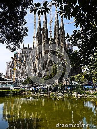 Sagrada Familia (Barcelona) in Spain