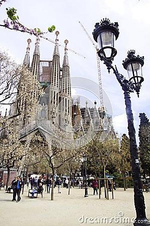 Sagrada familia barcelona spain Editorial Image