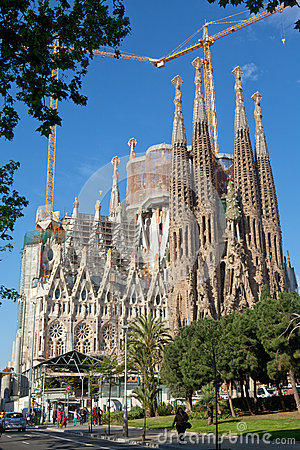 Sagrada Familia - Barcelona, Spain Editorial Photo