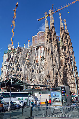 Sagrada Familia - Barcelona, Spain Editorial Stock Photo