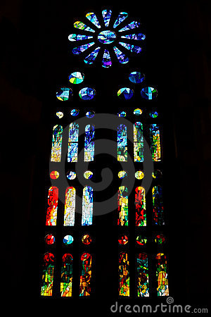 Sagrada Familia, Barcelona, Spain, Europe Editorial Stock Photo