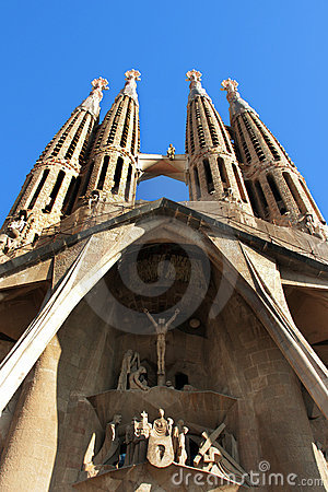 Sagrada Familia - cathedral by Gaudi, in Barcelona