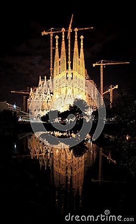 The Sagrada Familia Church in Barcelona