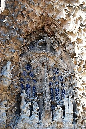 Free Sagrada Familia Entrance Details Stock Images - 5242184