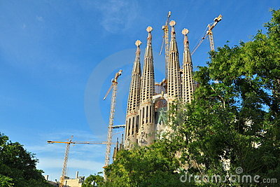 Sagrada Familia renovation, Barcelona, Spain