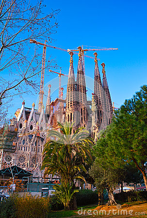 Sagrada Familia Editorial Stock Image