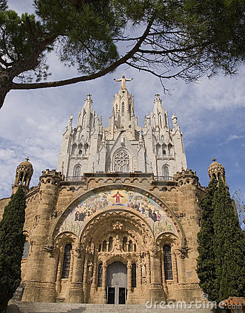 Free Sagrat Cor At Tibidabo Stock Photo - 3411270