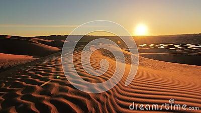 Sahara Desert-Landschaft, wunderbare Dünen früh morgens