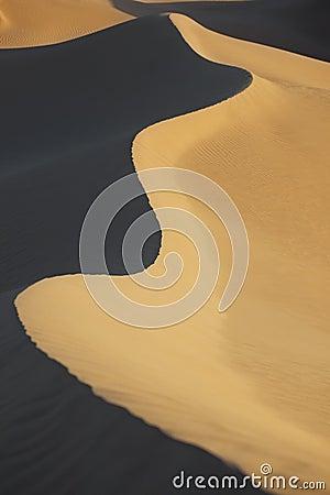 Sahara desert sand dunes, Morocco.