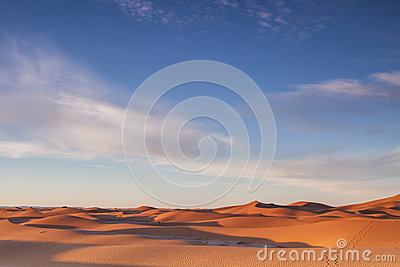 Sahara desert at sunrise