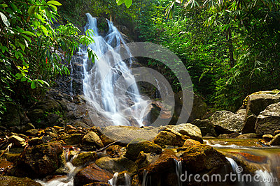 Sai Rung waterfall in the jungle of Thailand