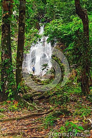 Sai Rung waterfall in the jungle of Thailand