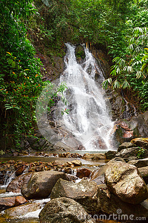 Sai Rung waterfall in Thailand