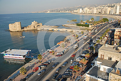 Saida lebanon Crusader seas castle & the city