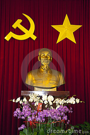 SAIGON Bust of Ho Chi Minh Editorial Image