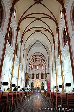 Saigon Notre-Dame Basilica Cathedral, Vietnam Editorial Image
