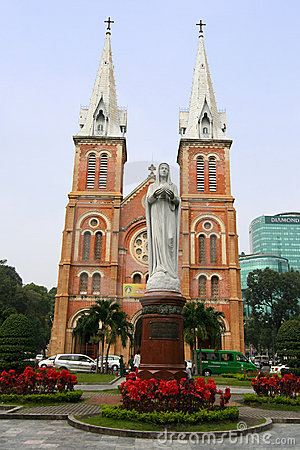 Saigon Notre-Dame Basilica Cathedral, Vietnam Editorial Photo