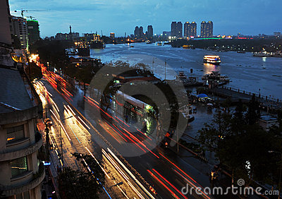 Saigon River At Dusk, Vietnam Editorial Photo