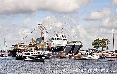 Sail Amsterdam 2010 - The Sail-in Parade Editorial Stock Photo