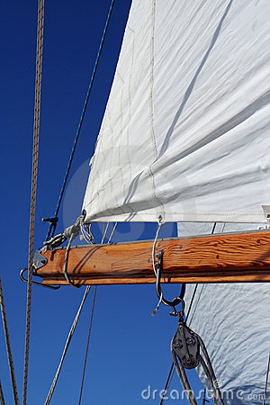 Free Sail And Boom, Portrait View Stock Photography - 791152