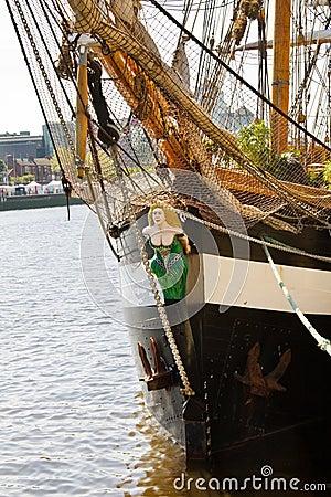 Free Sail Away - Historic Irish Tall Ship Stock Image - 10169771