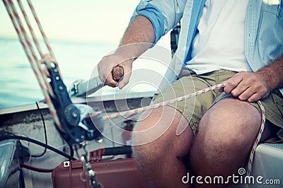 Sail boat captain