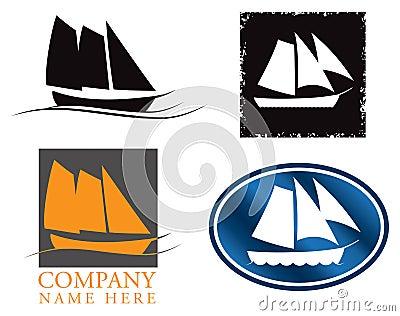 Sail Boat Logo Set