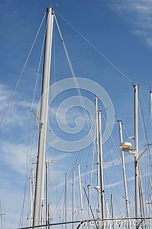 Free Sail Boat Masts Stock Image - 52635381