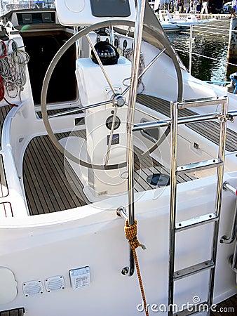 Sail boat stern