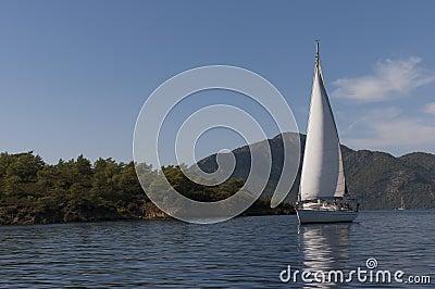 Sail boat in Turkey