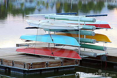 Sail boats stack up on dock