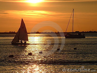 Sail Boats at Sunset