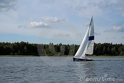 Sail on the lake