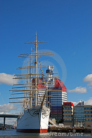 Sail ship in Gothenburg harbor