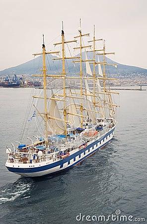 Sail Ship in Harbor of Napoli