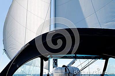 Sail and spray hood