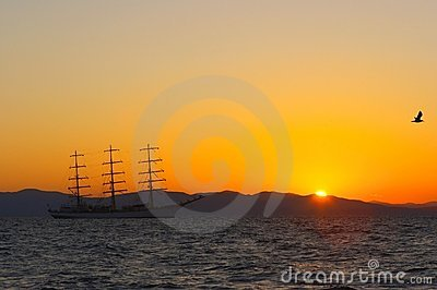 Sail on the sunset