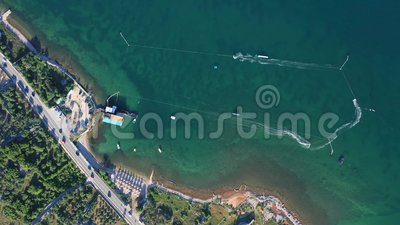 Sailboat πανιά στη Μεσόγειο απόθεμα βίντεο
