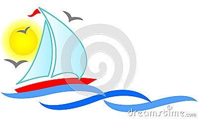 Sailboat Abstract/eps