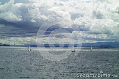 Sailboat in Adriatic sea
