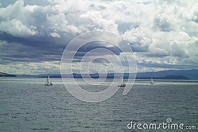 Sailboat in Adriatic sea