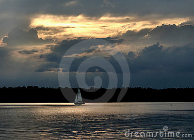 Sailboat against the sky  #2