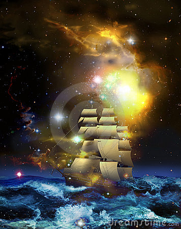 Free Sailboat And Universe Royalty Free Stock Images - 19925979
