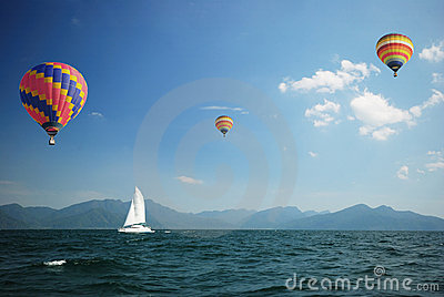 Sailboat with balloons